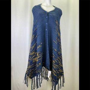 Women's LuLaRoe Mimi Fringed Sweater/Shawl